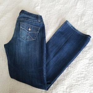 INC Embellished Curvy Fit Bootcut Jeans
